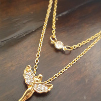 Dainty necklace Gold plated Flying Angel clavicle layered necklace Dainty jewelry Fine jewelry Gift Jewelry