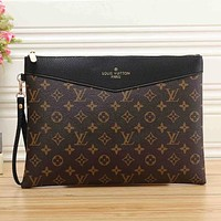 Louis Vuitton LV Classic Letter Printing Cosmetic Bag Clutch
