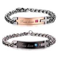 Engravable Matching Couples Friendship Bracelets Valentines Gift