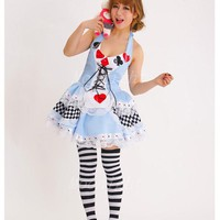 DCCKHY9 MOONIGHT Plus Size New Sexy Queen of Hearts halloween Costumes For Women Costume Alice In Wonderland Fancy Cosplay Dress Party