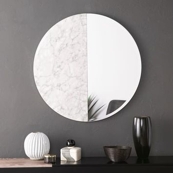 Holly & Martin Bowers Round Decorative Wall Mirror - White | Overstock.com Shopping - The Best Deals on Mirrors