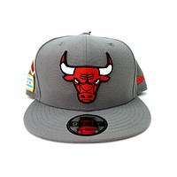 New Era 9FIFTY Chicago Bulls NBA 2018 Draft Grey Snapback Hat