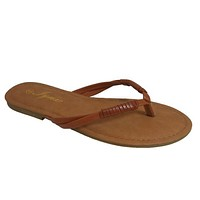 INSANITY CLOSEOUT! Every Girls Must! Classic Tan Flip Flop Sandals