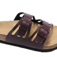 Birkenstock Granada Sandals Leather Purple