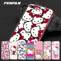 For iPhone 8 case 5 SE 5S 6 6S 7 8 Plus for iPhone XR case Hello kitty for iPhone X case 2108 new arrival for iPhone XS Max case
