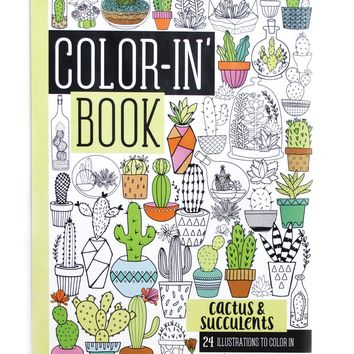Color-in' Book Travel Size: Cactus and Succulents by Ooly