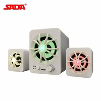SADA 2.1 Surround Sound Speaker with Colorful Luminous Light Mobile Phone Computer Laptop PC Desktop Speaker