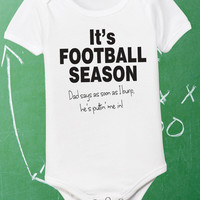 Football Onesuit Infant Football Shirt Baby Shirt 0-6 6-12 12-18  18-24 Month