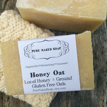 Honey Oat,  skin soothe, sensitive skin, gentle, local organic, honey, artisan soap, organic soap, unscented