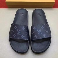 Louis Vuitton LV Woman Men Fashion Slipper Flats Shoes