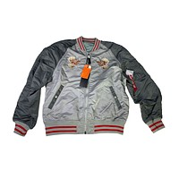 Alpha Industries Men's Souvenir Double Dragon Reversible Jacket