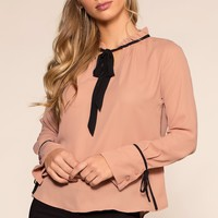 No Loose Ends Top - Blush