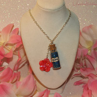 Disney Lilo and Stitch OHANA Family Magic Necklace with a Flower Charm by Life is the Bubbles