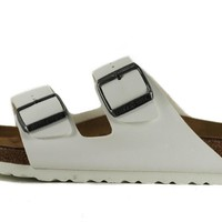 Birkenstock for Women: Arizona Birko-Flor White Sandals