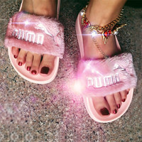Rihanna x Puma Leadcat Fent Lover Fur Slipper Shoes