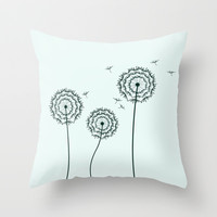 Dandelions Throw Pillow by Silvianna