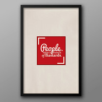 IT Crowd, Textured, Minimalist Typographic Geek Poster // People, What a Bunch of Bastards, Roy Quote
