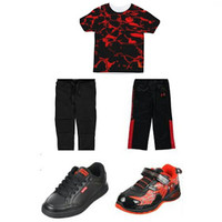 Lil Buds Corner: Joggers, Jordan's, And A Waters Glimmer Blackout Printed Shirt Make A Great Outfit