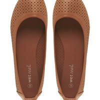 Perforated Ballet Flats | Wet Seal