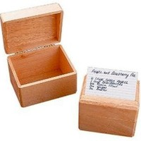 Wooden 4 x 6 Inch Recipe Card Box