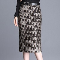 FENDI Autumn Winter New Trending Women Stylish High Waist Skirt