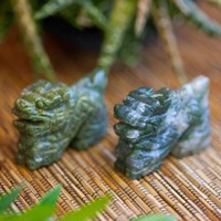 Moss Agate Dragons for perseverance and healing