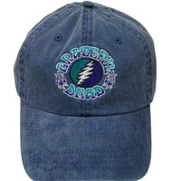 Grateful Dead 13 point Lightning Bot embroidered hat / hat /Dead and Company / roses /