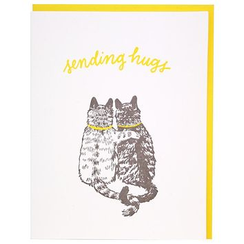 Cat Hugs Support Card [Smudge Ink]