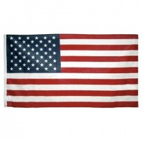 3ft x 5ft Poly Cotton American Flag - U.S. Made