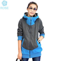 New Arrival Feminina Sweatshirt  Hooded Zipper hoody Autumn and Winter Long Sleeve Thicked Mid-long Sweatershirt Tracksuits 5150
