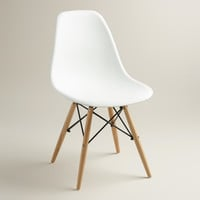 White Molded Evie Chairs, Set of 2