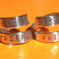 Best Friends Forever - Set  Of Two  Frienship Rings - BFF Wrap Ring Set