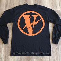 VLONE Friends x Fragment Design Pop up collab Black Long Sleeve T Shirt VLONE Asap Rocky Tee