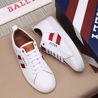 Best Quality BALLY Men's Leather Fashion Low Top Sneakers Shoes Casual men running shoe