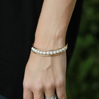 The Ella Pearl Bangle