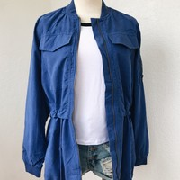 ROSA PARKA JACKET- BLUE