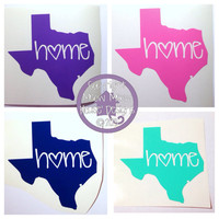 Texas or any other state Home State Love Decal - Cute Custom Decal for Car or Tablet Ipad -State Pride - State Love - 4 in Sticker