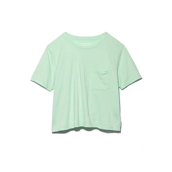 Boxy Crop Tee - Mint Green