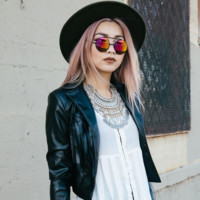 Retro Round Steampunk Mirrored Lens Flip Up Sunglasses