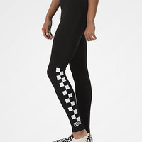 Vans Chalkboard Check Black Leggings | Zumiez