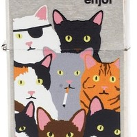 Enjoi: Zippo Lighter - Burnt Kitty
