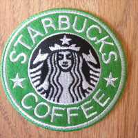 Starbucks Coffee Iron on Patch, Applique, Sewing patch
