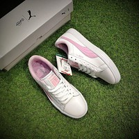 BTS X Puma Court Star White Pink Shoes Women Casual Shoes