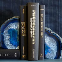 GEODE BOOKENDS, SET OF 2