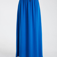 Woven Maxi Skirt With Side Slits | Wet Seal