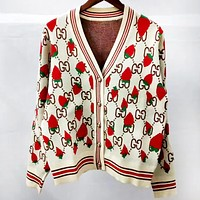 GUCCI autumn and winter new women's knit cardigan coat