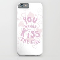 you wanna kiss the girl iPhone & iPod Case by Studiomarshallarts