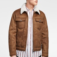 FAUX SUEDE DOUBLE-SIDED JACKET