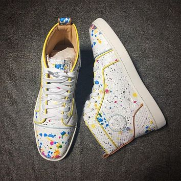 Christian Louboutin CL Python Style #2252 Sneakers Fashion Shoes Online