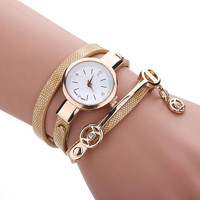 Women Watch Hot Sale Women's Fashion Watch  Women Metal Strap PU Leather Wristwatches Watch Free Shipping!